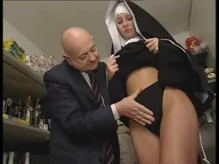 Italian Latina Nun abused by Dirty Old man