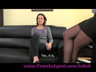 FemaleAgent. Anal creampie for cute Romanian woman