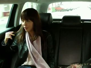 Hot Japanese tourist fucked in a taxi real well