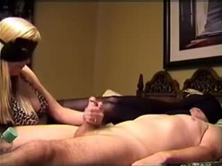 Blonde Babe Jerking Cock