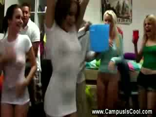College babes gets their tits out
