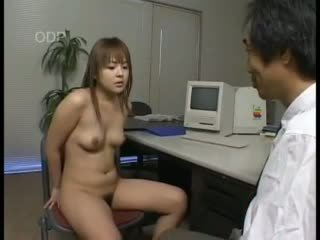 Japanese babe gives blowjob to her boss Video