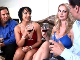 Lusty Gals Aline And Nikki Hunter Inside Dresses
