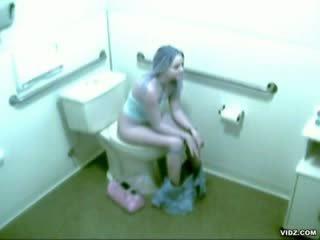 Horny chick caught Masturbating in Bath room