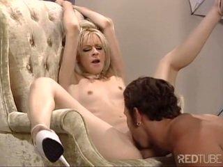 Blonde cummed on indecent ass