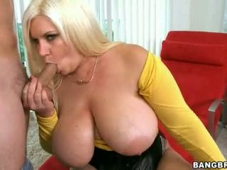 Amazingly Boobed Tiffany Blake Whacks Her Soaked Throat With A Mbootyive Cock
