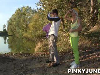 18yo Czech Teen Pinky June Screws Inside Forest Near Prague