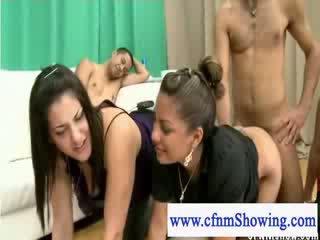 Cfnm slut fucked doggystyle by naked guy