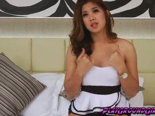 Asian Ladyboy Baitong Masturbates her Anus