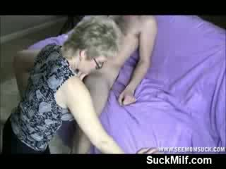 Milf opens her mouth for CumsHot from Big Cock