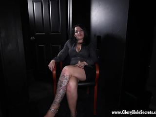 Gloryhole Secrets milf Kitty gets horny from cock