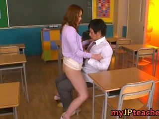 Teacher Enjoying Big Cock