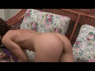 Brunette Whore Susana Spears Toying Her Taut Pussy With A Purple Dildo
