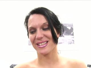 Elle Cee is a brunette MILF whose husband is impo