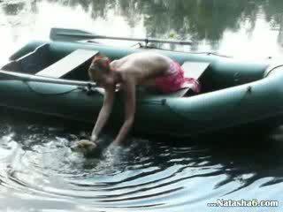 Amateur Euro Natasha in the boat