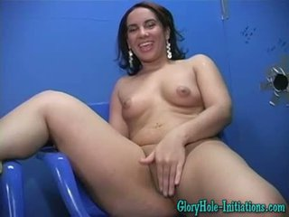 Victoria Allure at a Gloryhole