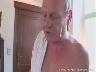 GreyHaired Granny Gets A Double Dipping Of Cock