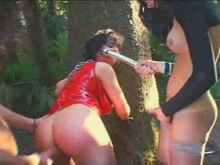 Fetish sex with a wild tranny in a forest