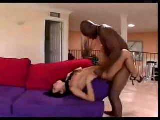 Asian brunette loves black dick