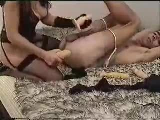 Homemade video - wife fucks husband in the ass