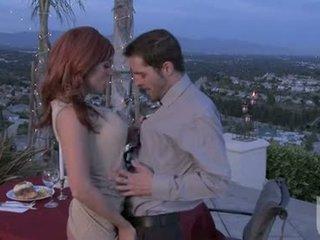 Red Headed Girlfriend Jadra Holly Gives Her Boyfriend An Fantastic Oral Stimulation