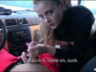 Alexa fucked in the car for some cash