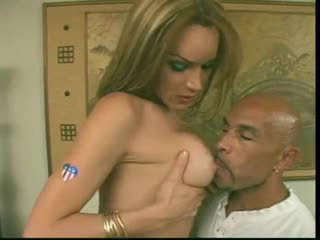 Blonde shemale has a perfect body