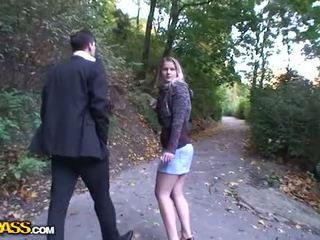 Outdoor sex scene with a blonde Video