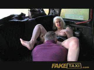 FakeTaxi Blonde glamour model sucks big cock