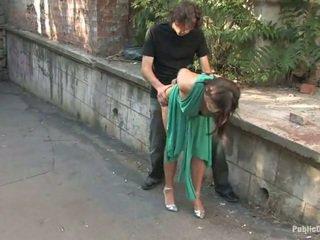 Long legged European gets punished