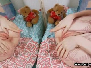 Tiny Teen Girl Playing With Her Perfect