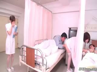 Tiny Japanese Nurse Giving A Blowjob Part4