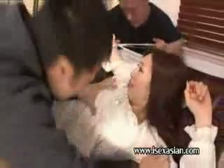 Asian unlucky housewife mature woman and friends of hubby
