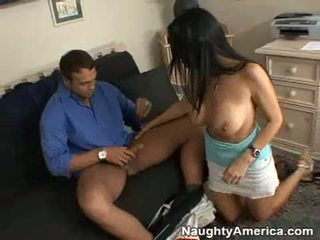 Scorching Hawt Momma Vanilla Deville Feeds Her Throat With A Dick And Enjoys It