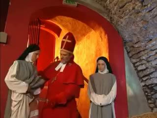 Priest teaches nuns how to fuck with toy Video
