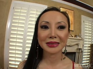 Long haired Asian MILF getting fucked