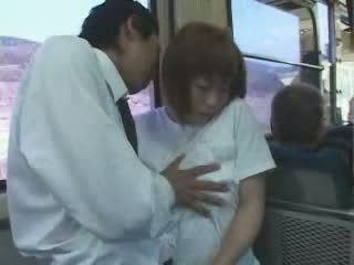Mature Japanese Busty Mom Groped and Fucked In Bus Video