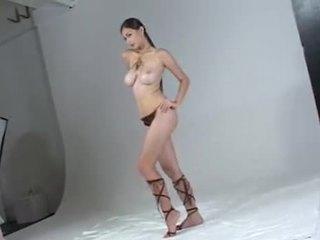 Asian girl Francine at a shooting
