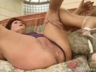 Hot granny enjoys hard sex with her lover