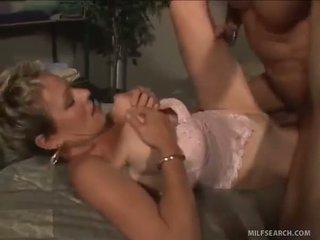 Mature Milf Gobbles Down Her Cockmeat Sandwich