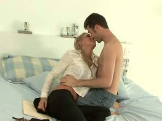 Juicy Pearl with glasses and James Deen