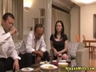 Horny Japanese Milf Makes Out