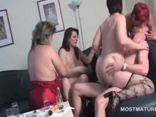Dick Starved Mature Hookers Fucking In Turns At Hot Orgy