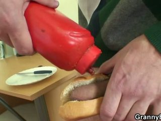 Cock Hungry Grandma Has Stretched