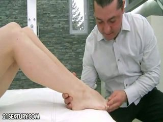 Shaved For The Footjob
