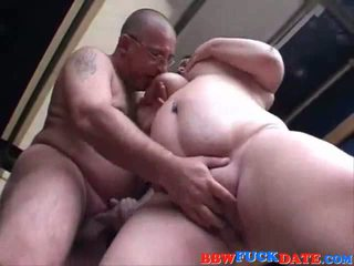 BBW Teen Pleasuring Old Man with her melons