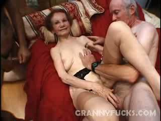 Raw Grandma Three Some