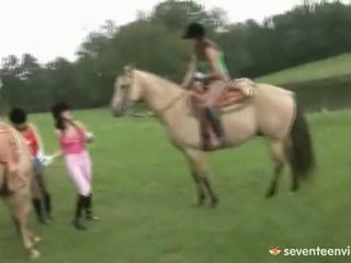 Lesbian Group Sex At The Stables