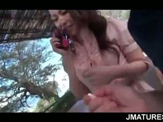 Cock Starved Mature Jap Chick Trying Outdoor Sex For The