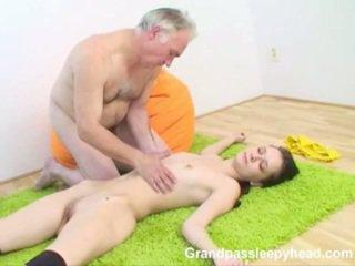 Grandad Has Sex Teenage Sleepyhead And Spunks Onto Her
